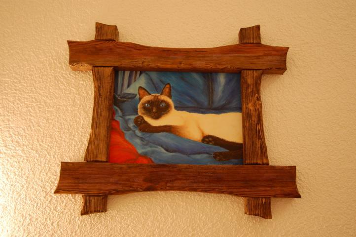 Bilderrahmen aus handverarbeiteten Holz